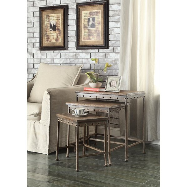 Eltingville Wooden 3 Piece Nesting Tables by 17 Stories