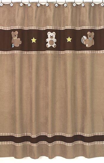 Teddy Bear Shower Curtain by Sweet Jojo Designs