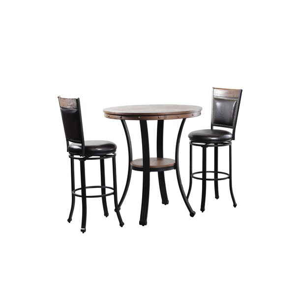 Alena 3 Piece Pub Table Set by Williston Forge