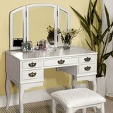 Holmwood Vanity Set with Mirror by Canora Grey