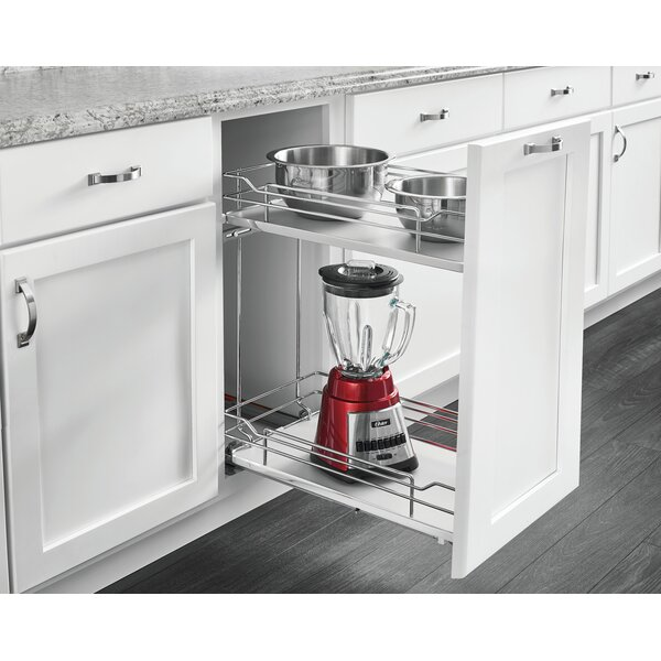 2 Tier Wire Organizer Pull Out Draw by Rev-A-Shelf