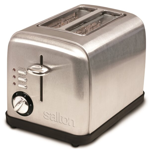 2-Slice Electronic Stainless Steel Toaster by Salton