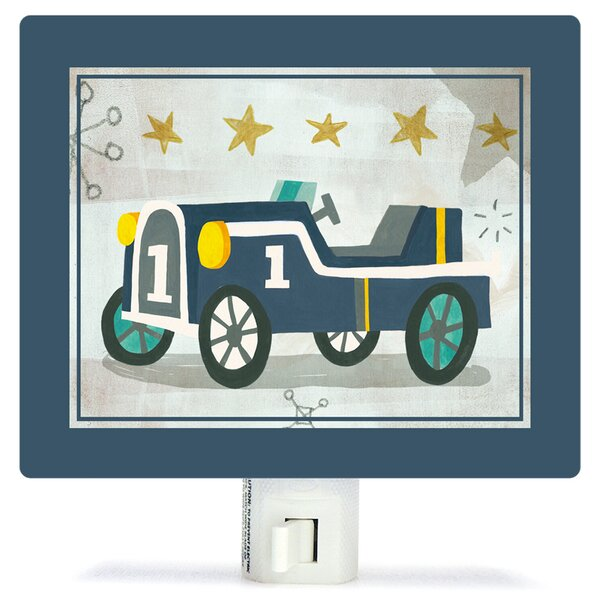 Vintage Racecar by Irene Chan Night Light by Oopsy Daisy