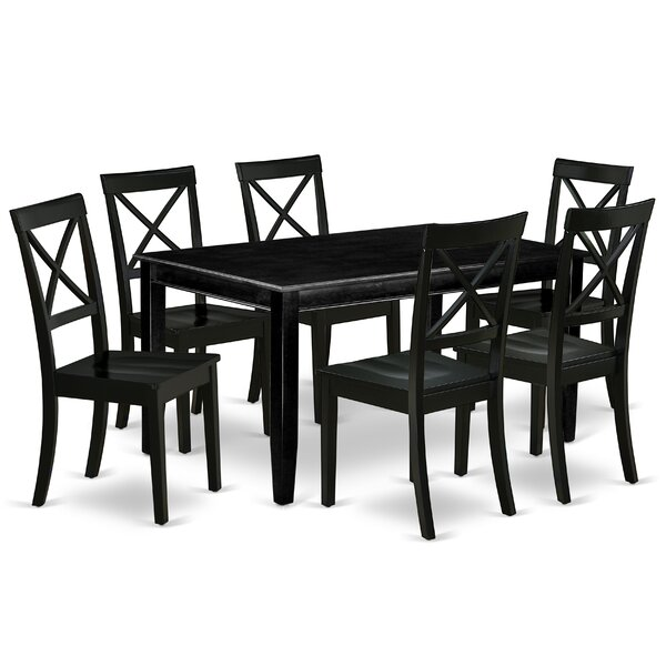 Gilda 7 Piece Solid Wood Dining Set By Alcott Hill