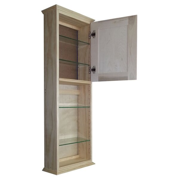 Ashley Series 15.25 W x 43.5 H Wall Mounted Cabinet by WG Wood Products