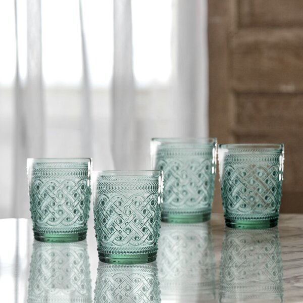Bistro Ikat Old Fashion Glass Cocktail Glass (Set of 4) by Elle Decor