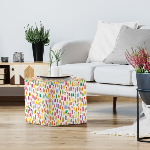 Elena O'Neill Ice Lollies Standard Ottoman by East Urban Home East Urban Home