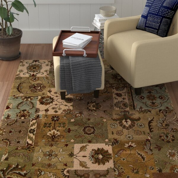 Philip Hand-Tufted Brown/Green/Beige Area Rug by Red Barrel Studio