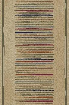 Jewel Ivory Stripes Area Rug by Threadbind