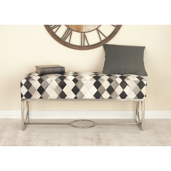 Leather Bench By Cole & Grey New