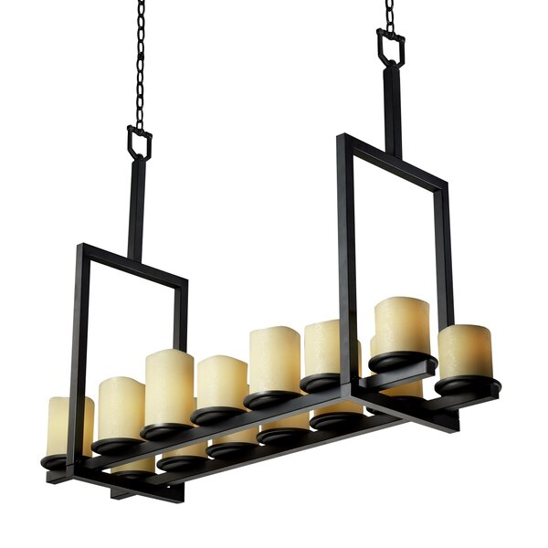 Boxford 14 - Light Shaded Square / Rectangle Chandelier By Loon Peak