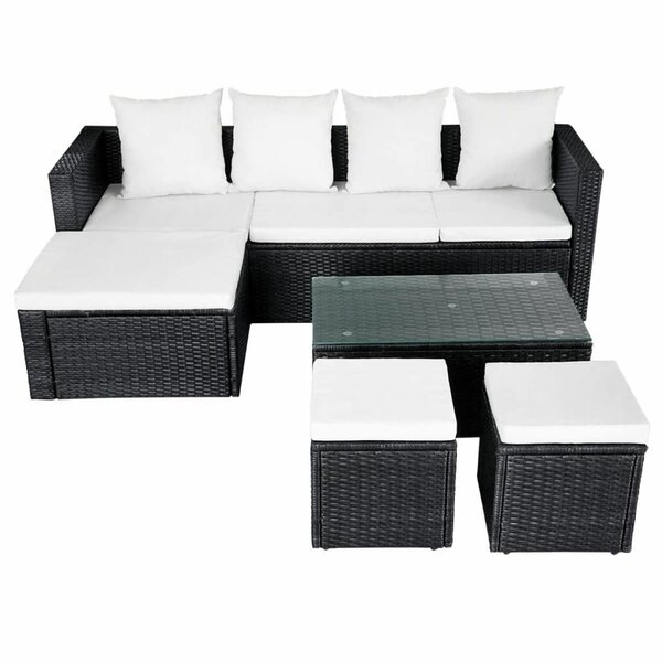 Frey Garden 4 Piece Rattan Sofa Seating Group with Cushions by Brayden Studio