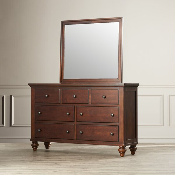 Verrett 7 Drawer Dresser with Mirror by Darby Home Co