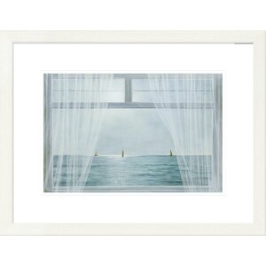 'Coastal Morning View' by Diane Romanello Framed Graphic Art by Global Gallery