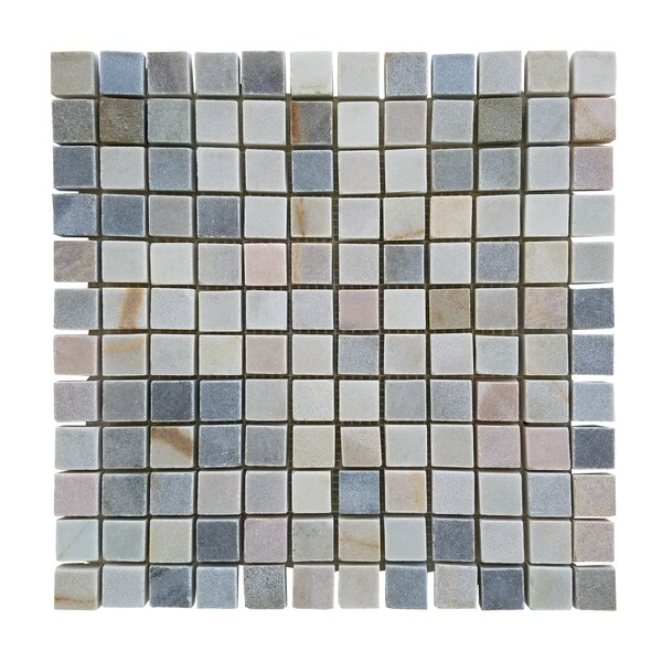 1.87 x 0.87 Stone Mosaic Tile in Desert Gray by Abolos
