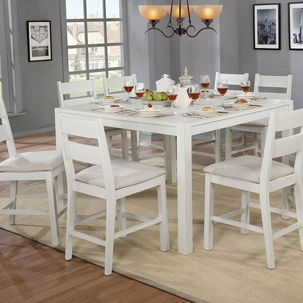 Quintana 9 Piece Counter Height Dining Set by August Grove