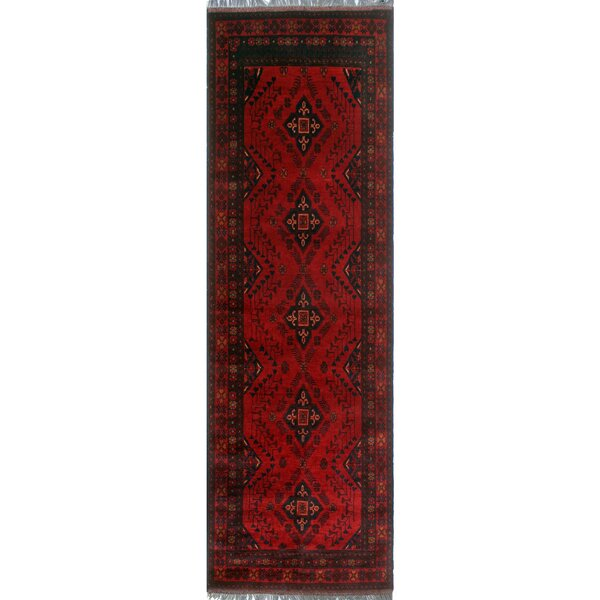 One-of-a-Kind Millar Thema Hand-Knotted Wool Red Are Rug by Bloomsbury Market