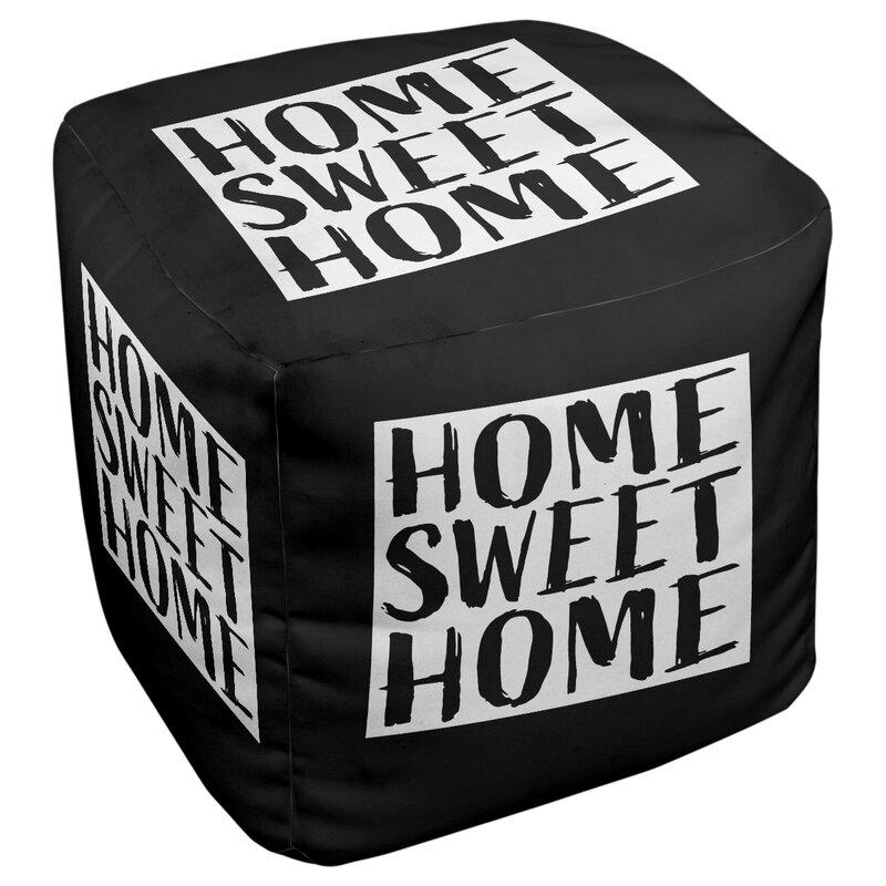 East Urban Home Home Sweet Wyoming Cube Ottoman Wayfair