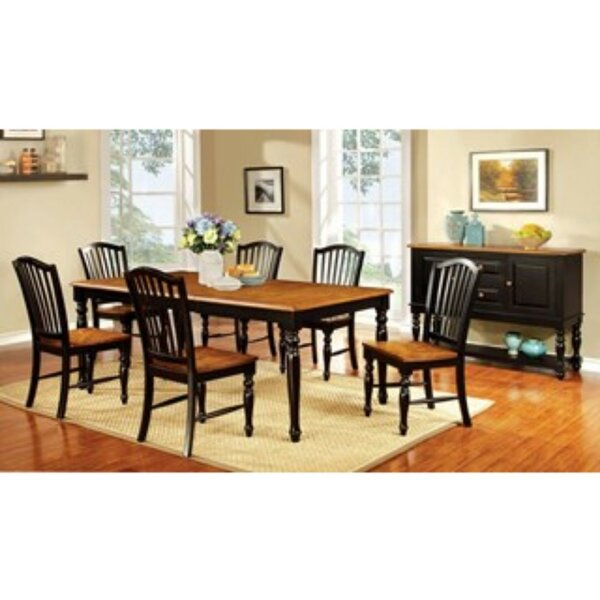 Tatem Elegant Country 7 Piece Solid Wood Dining Set by August Grove