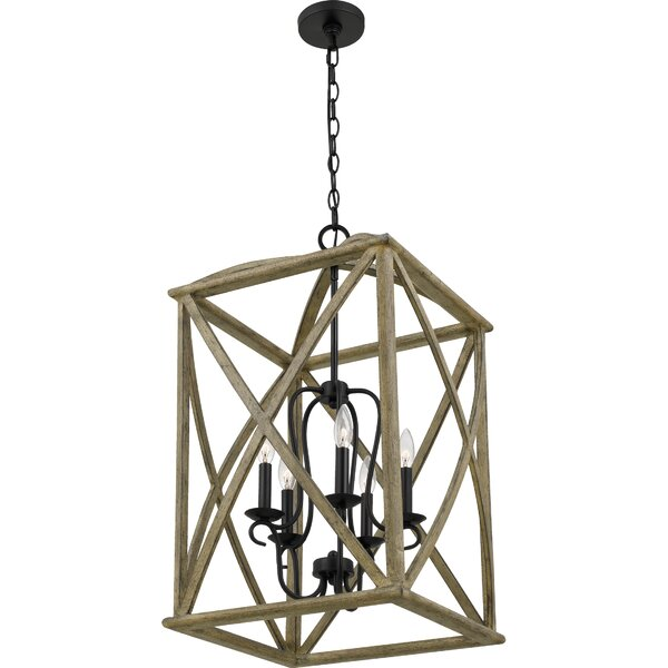 Chanler 5 - Light Candle Style Rectangle / Square Chandelier By Gracie Oaks
