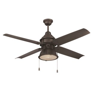 Outdoor ceiling fans youll love wayfair 52 martika 4 blade led ceiling fan aloadofball Gallery