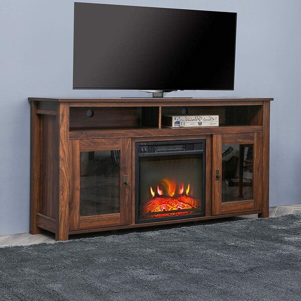 Alarick TV Stand For TVs Up To 60 Inches With Fireplace Included By Union Rustic