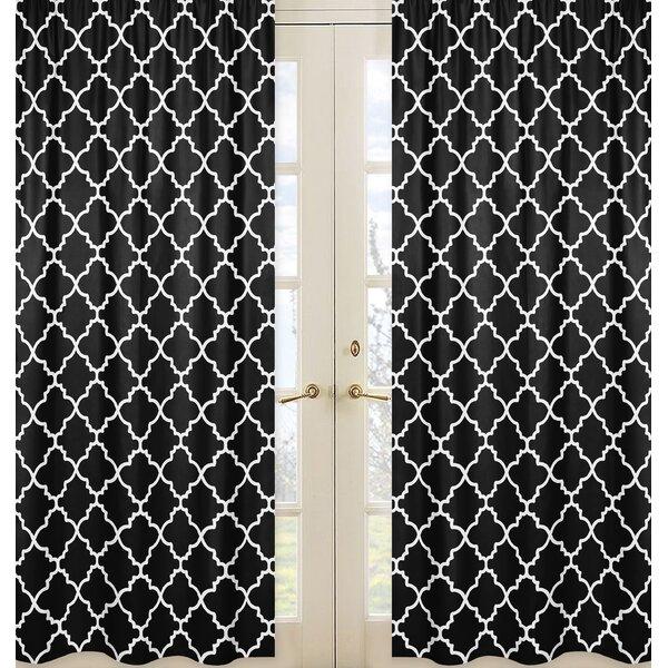 Trellis Geometric Semi-Sheer Rod pocket Curtain Panels (Set of 2) by Sweet Jojo Designs