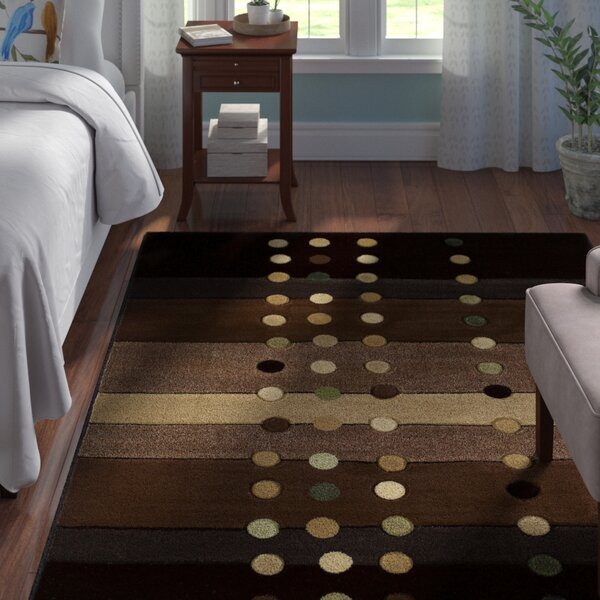 Ganley Cascades Chocolate Rug by Andover Mills