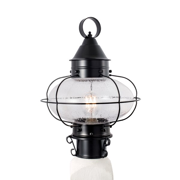 Wyckhoff Cottage Onion Medium Post 1-Light Lantern Head by Breakwater Bay