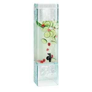 3 Gallons Faux Glass Beverage Dispenser