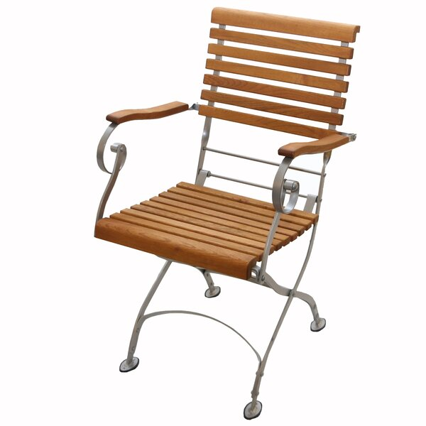 Pinder Folding Patio Dining Chair by Williston Forge