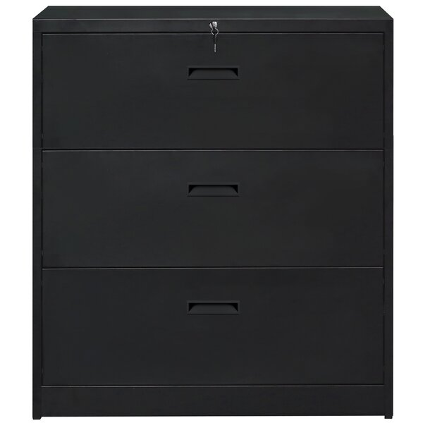 Anti-Tilt 3 Drawer Lateral Filing Cabinet