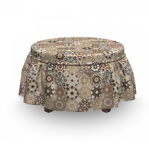 Octagonal Ottoman Slipcover (Set Of 2) By East Urban Home