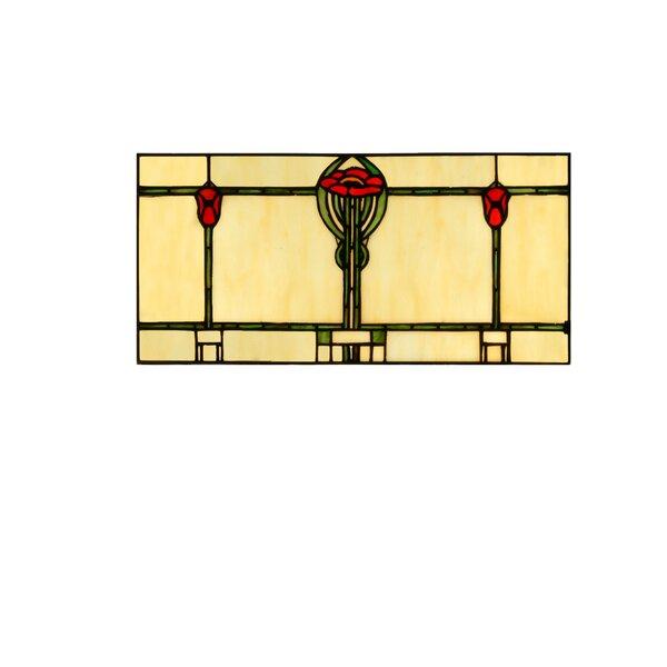 Parker Poppy Stained Glass Window by Meyda Tiffany