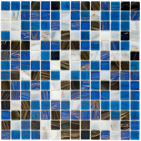 Fused 0.75 x 0.75 Glass Mosaic Tile in Marine by EliteTile