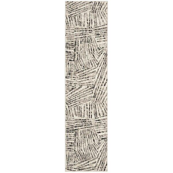 Cosner Power Loomed Gray/Ivory Area Rug by Corriga