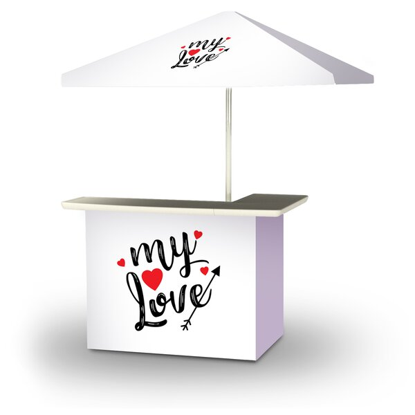 Xavieyah Valentines My Love 2-Piece Home Bar Set by East Urban Home