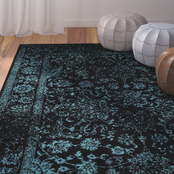 Howlett Black/Teal Area Rug by Laurel Foundry Modern Farmhouse