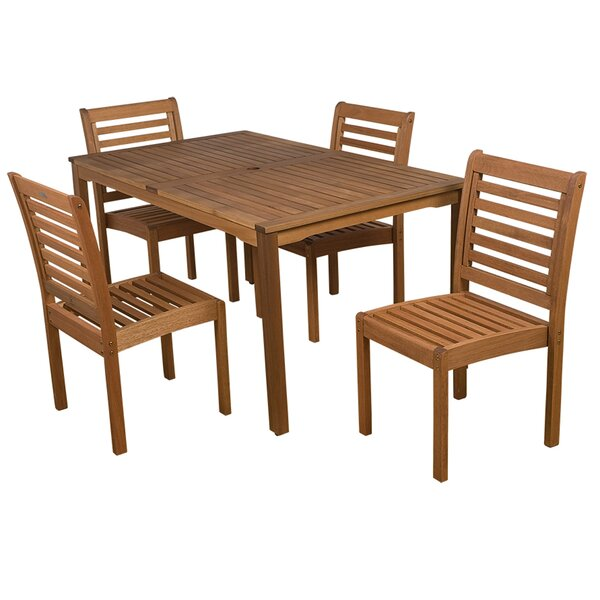 Trym Outdoor 5 Piece Dining Set by Highland Dunes