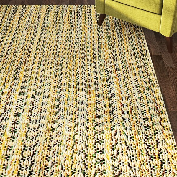 Kenny Hand-Woven Brown Area Rug by Bungalow Rose