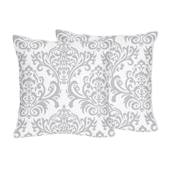 Elizabeth Damask Cotton Throw Pillow (Set of 2) by Sweet Jojo Designs