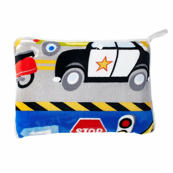 Jayapura Trains and Trucks Pillow by Zoomie Kids