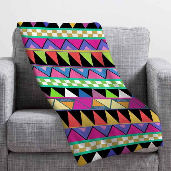Bianca Green Zigzag Throw Blanket by Deny Designs