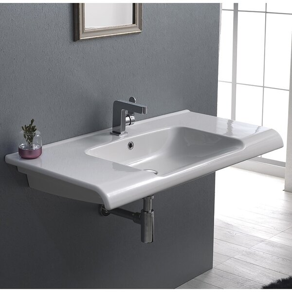 Anova Ceramic Rectangular Drop-In Bathroom Sink with Overflow by CeraStyle by Nameeks