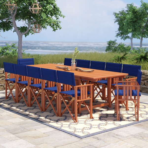 Sanor 13 Piece Dining Set by Beachcrest Home