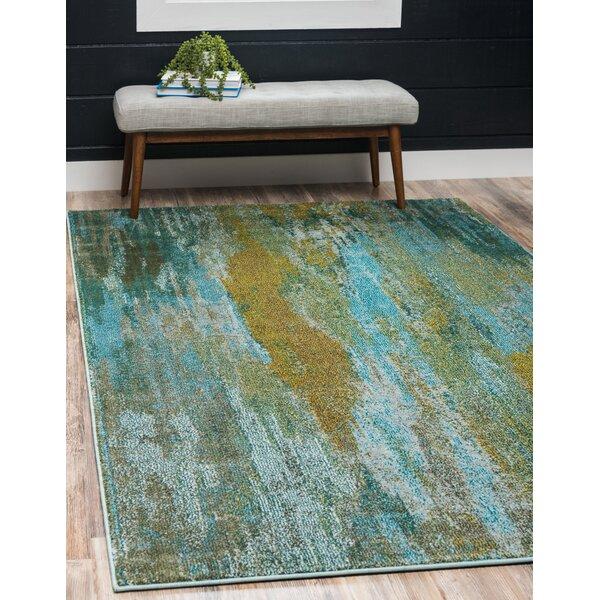 Killington Turquoise Area Rug by World Menagerie