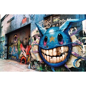 Graffiti Alley Photographic Print on Canvas by Fluorescent Palace