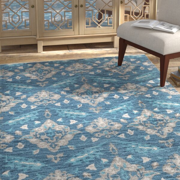 Dever Hand-Woven Blue Area Rug by Bungalow Rose