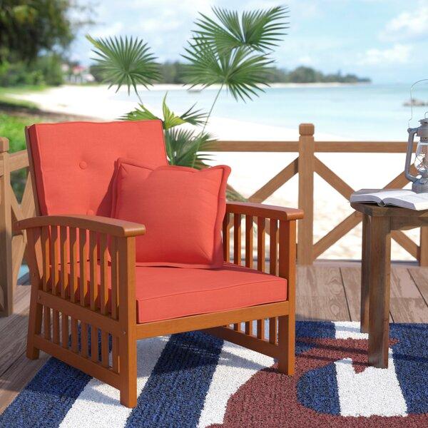 Sabbattus Arm Chair with Cushion (Set of 2) by Breakwater Bay Breakwater Bay