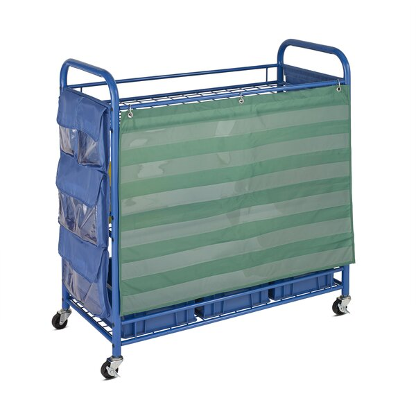 All Purpose Portable Teaching Cart with Bins by Ho
